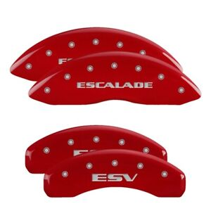 2011 Cadillac Escalade Red Mgp Disc Brake Caliper Covers Front Rear 35015sesvrd