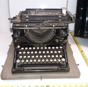 1911 Underwood No 5 Standard Typewriter W Original Case Serial Number 403301