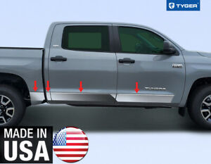 Chrome Rocker Panel Trim 8 Wide For 07 20 Toyota Tundra Crewmax W 5 5 Bed 8p