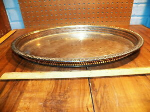 Vintage William Rogers Silverplated Oval Serving Tray 881g