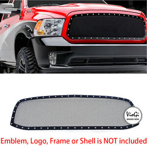 1pc Replacement Upper Stainless Steel Black Billet Grille For 06 09 Dodge Ram