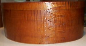 Tiger Maple Shaker Oval Box Size 9 Extra Large Size 16 Inches Long