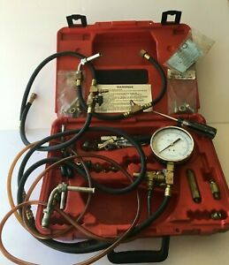 Snap on Tools Fuel Injection Pressure Gauge Test Kit With Extra Connectors