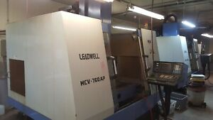 Leadwell Mcv 760ap Cnc Vertical Machining Center