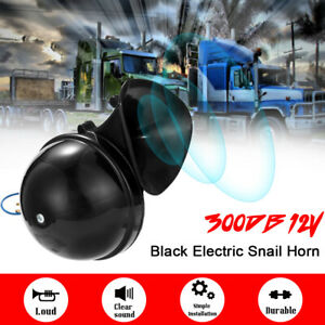 Loud 300db 12v Electric Snail Air Horn Sound For Car Motorcycle Truck Boat Us