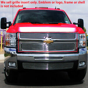 Billet Grille Insert For 07 10 Chevy Silverado 2500hd 3500hd