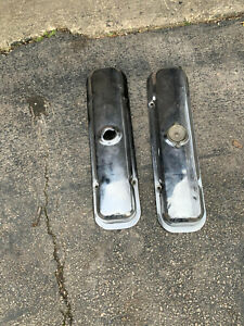 67 81 Pontiac Chrome Valve Covers 301 400 428 455 Oem 1968 Gto Lemans Gp Tempest
