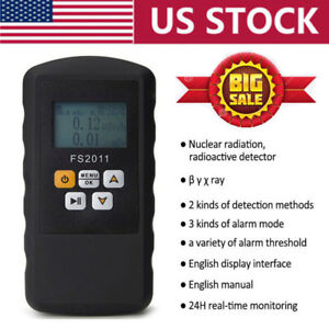 Nuclear Radiation Detector Beta Gamma X ray Geiger Counter Real Time Monitor Usa