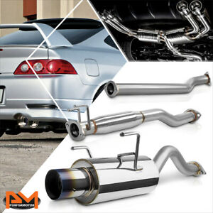 For 02 06 Acura Rsx Dc5 Type s K20 4 Burnt Tip Muffler Catback Exhaust System