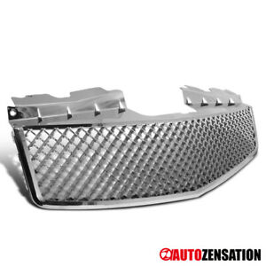 2003 2007 Cadillac Cts V Style Chrome Hood Abs Front Upper Mesh Grille Truck