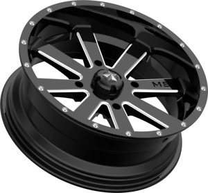 Msa M34 Flash Wheel Gloss Black Milled Polaris 4x156 Msa Wheels