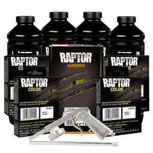 U pol 821 Raptor 4l Tintable Bed Liner Kit With 4854 White Tint Pouches And Gun