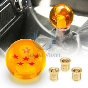 Universal Dragon Ball Z 6 Star 54mm Shift Knob With Adapters Will Fit Most Cars