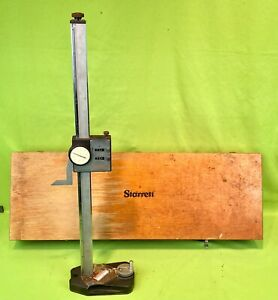 Starrett 259 Dial Height Gage W Wooden Case American Made