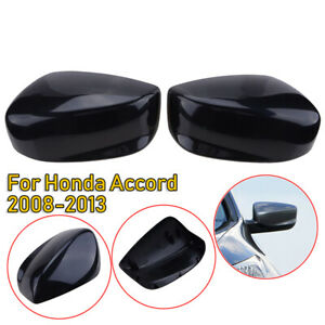Us For 2008 2012 Honda Accord Black Door Rear View Mirror Cover Trim Cap Casing