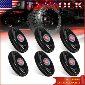 6x 9 Smd Led Rock Lights Fender Underbody Light For Jeep Offroad Atv Truck White