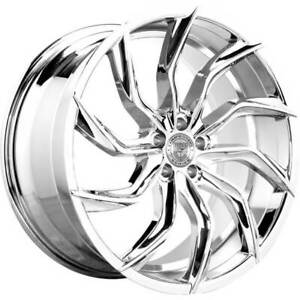 4ea 24 Lexani Wheels Matisse Chrome Rims s6
