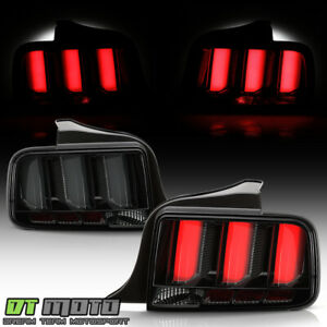 2005 2009 Ford Mustang Smoked Led Tube Sequential Signal Tail Lights Brake Lamps