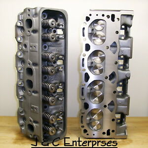 2 02 305 350 Chevy Cylinder Heads 187 Sbc Bronze Guides 500 Springs 1987 1995