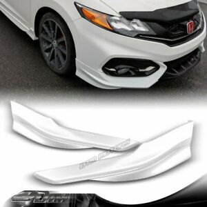 For 14 15 Honda Civic Coupe Hfp style Painted White Front Bumper Spoiler Lip 2pc