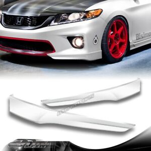 For 2013 2015 Honda Accord 2 dr Hfp style Painted White Front Bumper Spoiler Lip