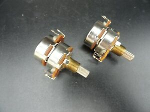 Linear Taper 50 Ohm Dual gang Potentiometer 3 4 Shaft lot Of 2