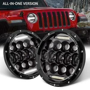 2x 7 Round Cree Led Headlights Lamp Drl For Jeep Wrangler Jk Jku Tj Cj Lj 280w