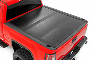 Rough Country Low Profile Hard Tri Fold Fits 14 18 Silverado Sierra 5 8 Bed