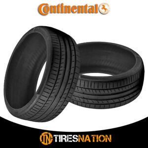 2 New Continental Contisportcontact 5 245 40 17 91y Performance Summer Tire