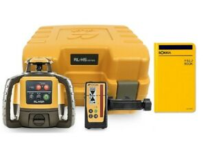 Topcon Rl h5a Self leveling Rotary Laser Level Field Book Ls 100d Receiver
