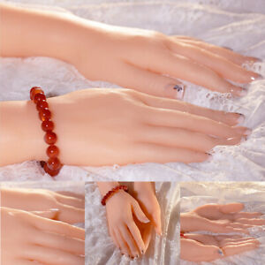 Female Left Right Pair Silicone Fake Hand Display Model Lifelike Finger Jewelry