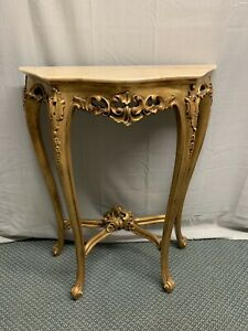 Vintage Gold Gilt Hall Side Entry Ornatetable