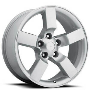 4ea 20 Ford Lightning Wheels Fr 50 Silver Oem Replica Rims S2