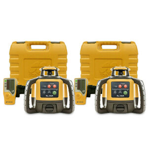 Topcon Rl h5a Self leveling Construction Rotary Grade Laser Level 2 pack