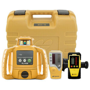 Topcon Rl h5b Construction Rotary Laser Level W Ls 80l Receiver Ld 8 Detector