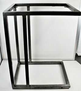 Raw Industrial Steel Base For End Side Table Or Modular Furniture Diy Project