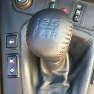 5 Speed Gear Shift Knob Artificial Leather Manual Stitching For Toyota Subaru