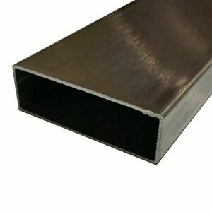 304 Stainless Steel Rectangle Tube 1 X 2 X 0 065 X 72 Long brushed Finish