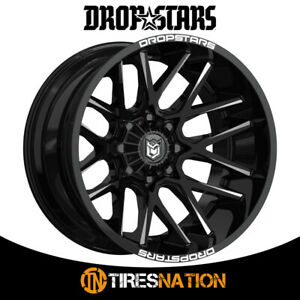 1 Dropstars Deep Concave 22x10 6x135 6x5 50 108 00 Hub 25 Black Wheel Rim