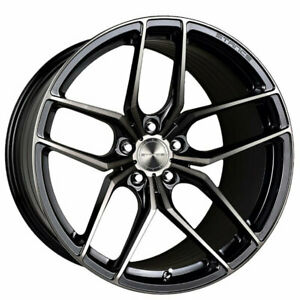4ea 19 Staggered Stance Wheels Sf03 Gloss Black Tinted Machined Rims s5