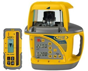 Spectra Precision Gl720 Dual Slope Grade Laser Level With Hl700 Receiver