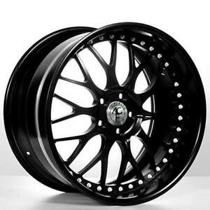 4ea 22 Staggered Ac Forged Wheels Rims 313 Bk 3 Pcs S2