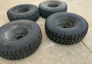 Hummer Humvee Hmmwv Wheels Tires 37x12 50r16 5lt M998 Set Of 4 2800 Miles