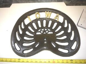 New Metal Tractor Seat Iowa Cast Iron