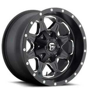 4ea 18 Fuel Wheels D534 Boost Matte Black Milled Off Road Rims S6