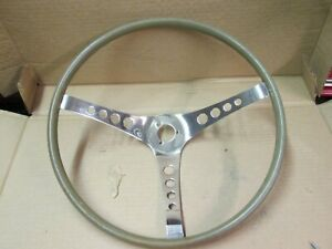 1960s Custom Wood Grained Steering Wheel Octagon Spoke Holes