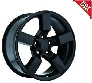 4ea 20 Ford Lightning Wheels Fr 50 Gloss Black Oem Replica Rims S3