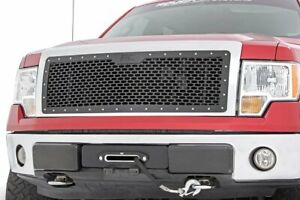 Rough Country Custom Mesh Grille fits 2009 2014 Ford F150 Black Powdercoat