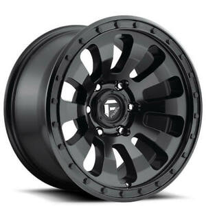 4ea 18 Fuel Wheels D630 Tactic Matte Black Off Road Rims S7