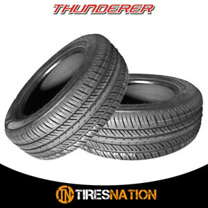 2 New Thunderer Mach 1 R201 165 80r15 87t Tires